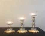 شمعدان 3 عددی کریستال